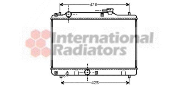 Radiateur, refroidissement du moteur - VAN WEZEL - 52002034