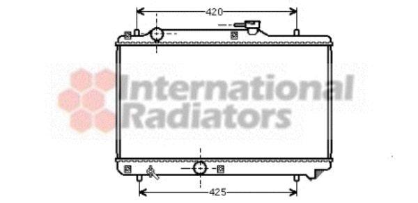 Radiateur, refroidissement du moteur - VAN WEZEL - 52002035
