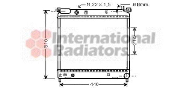 Radiateur, refroidissement du moteur - VWA - 88VWA52002036