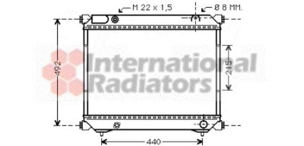 Radiateur, refroidissement du moteur - VAN WEZEL - 52002039
