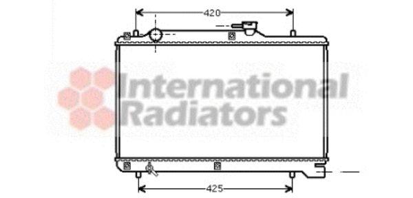 Radiateur, refroidissement du moteur - VAN WEZEL - 52002041