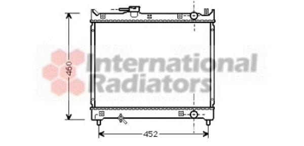 Radiateur, refroidissement du moteur - VAN WEZEL - 52002044