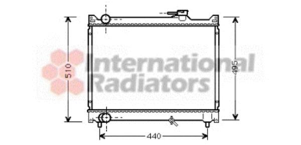 Radiateur, refroidissement du moteur - VAN WEZEL - 52002046