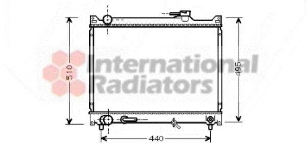 Radiateur, refroidissement du moteur - VAN WEZEL - 52002047