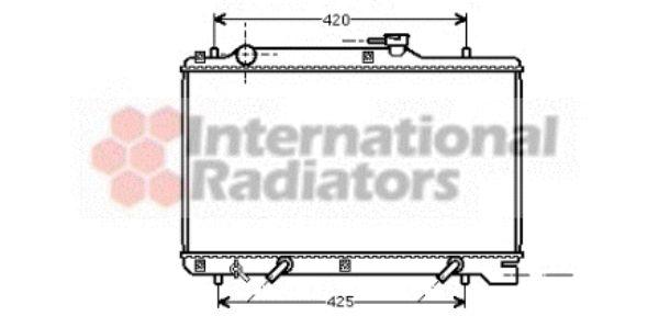 Radiateur, refroidissement du moteur - VAN WEZEL - 52002049