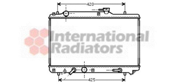 Radiateur, refroidissement du moteur - VAN WEZEL - 52002051