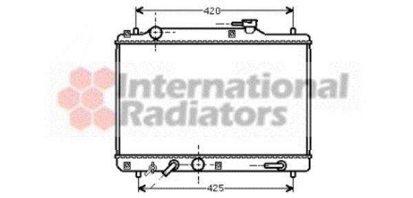 Radiateur, refroidissement du moteur - VAN WEZEL - 52002052