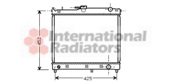 Radiateur, refroidissement du moteur - VAN WEZEL - 52002055