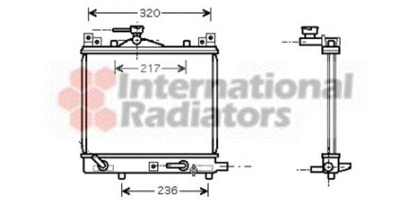 Radiateur, refroidissement du moteur - VAN WEZEL - 52002058