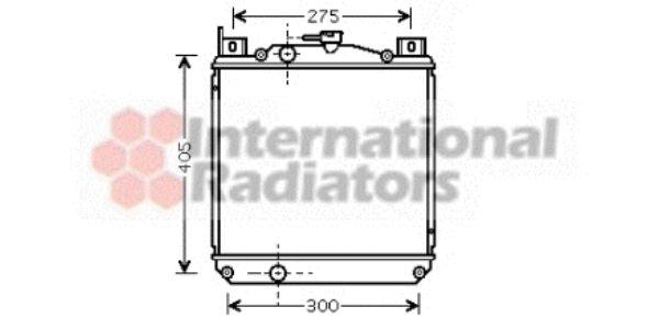 Radiateur, refroidissement du moteur - VAN WEZEL - 52002059