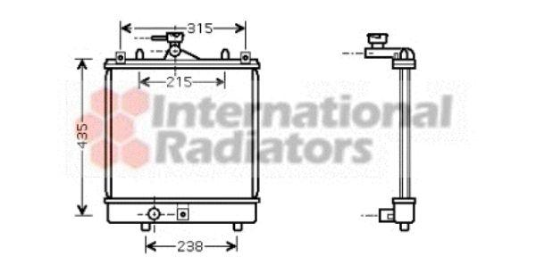 Radiateur, refroidissement du moteur - VAN WEZEL - 52002061