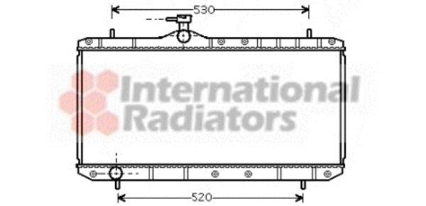 Radiateur, refroidissement du moteur - VAN WEZEL - 52002062