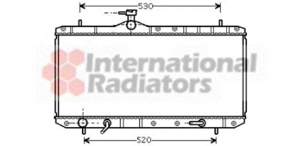 Radiateur, refroidissement du moteur - VAN WEZEL - 52002063