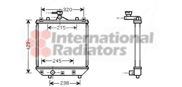 Radiateur, refroidissement du moteur - VAN WEZEL - 52002064