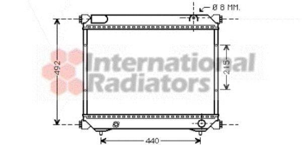 Radiateur, refroidissement du moteur - VAN WEZEL - 52002065