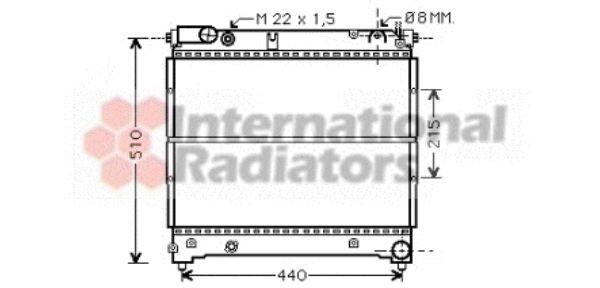 Radiateur, refroidissement du moteur - VAN WEZEL - 52002070