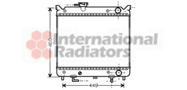 Radiateur, refroidissement du moteur - VAN WEZEL - 52002071