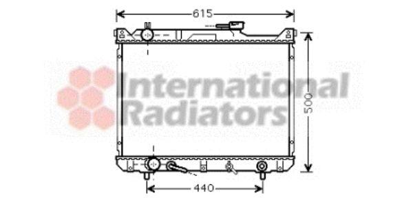 Radiateur, refroidissement du moteur - VAN WEZEL - 52002073