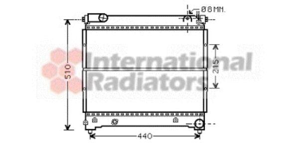 Radiateur, refroidissement du moteur - VAN WEZEL - 52002074