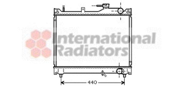Radiateur, refroidissement du moteur - VAN WEZEL - 52002079