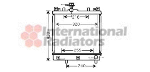 Radiateur, refroidissement du moteur - VAN WEZEL - 52002082