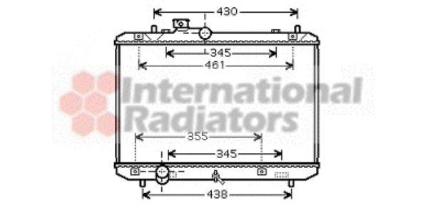 Radiateur, refroidissement du moteur - VAN WEZEL - 52002083
