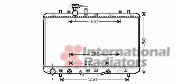 Radiateur, refroidissement du moteur - VAN WEZEL - 52002085