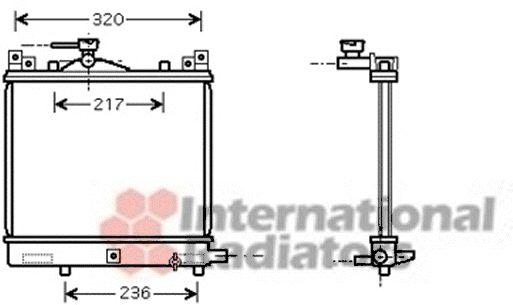 Radiateur, refroidissement du moteur - VAN WEZEL - 52002091