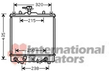 Radiateur, refroidissement du moteur - VAN WEZEL - 52002095