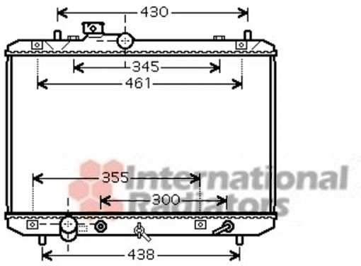 Radiateur, refroidissement du moteur - VAN WEZEL - 52002098