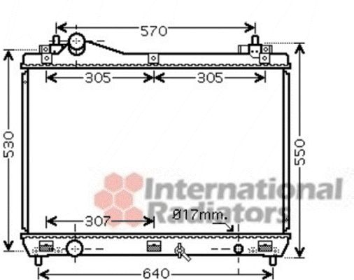 Radiateur, refroidissement du moteur - VAN WEZEL - 52002100