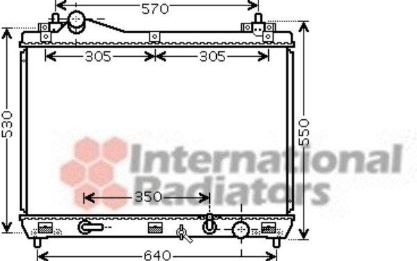 Radiateur, refroidissement du moteur - VAN WEZEL - 52002102