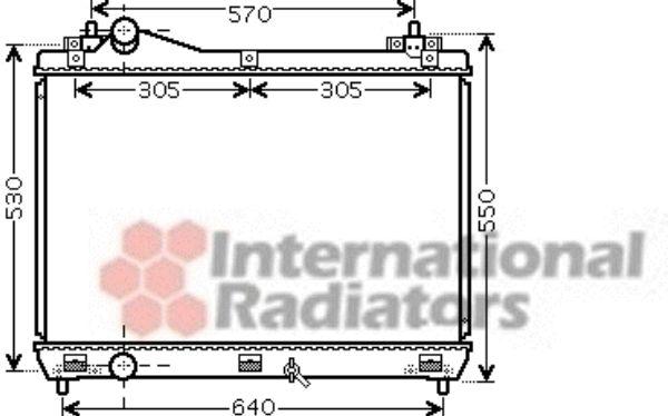 Radiateur, refroidissement du moteur - VAN WEZEL - 52002104