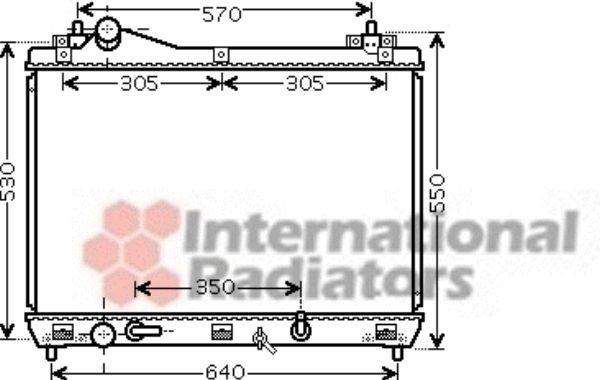Radiateur, refroidissement du moteur - VAN WEZEL - 52002105