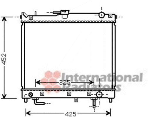 Radiateur, refroidissement du moteur - VAN WEZEL - 52002109