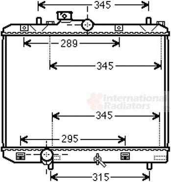 Radiateur, refroidissement du moteur - VAN WEZEL - 52002111