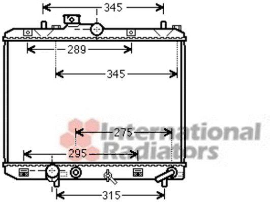 Radiateur, refroidissement du moteur - VAN WEZEL - 52002112