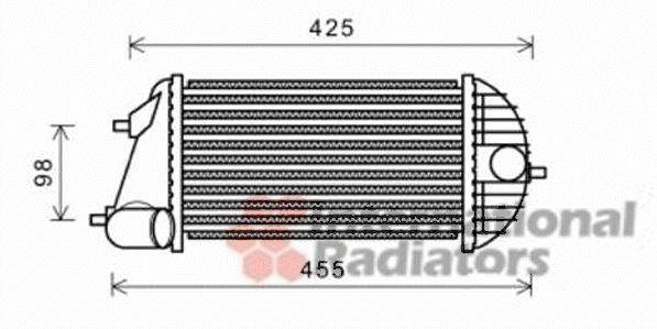 Intercooler, échangeur - VAN WEZEL - 52004123