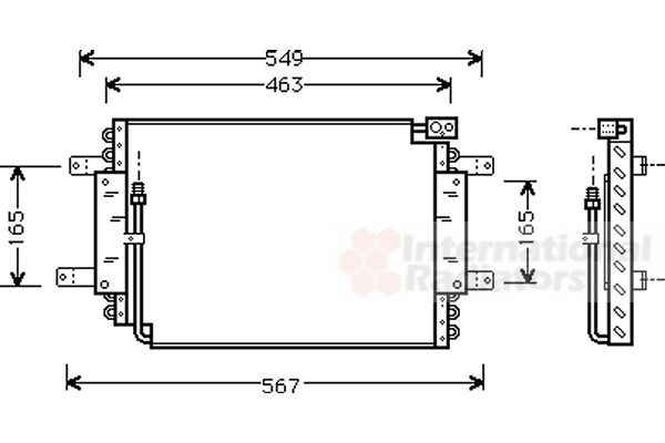 Condenseur, climatisation - VWA - 88VWA52005027