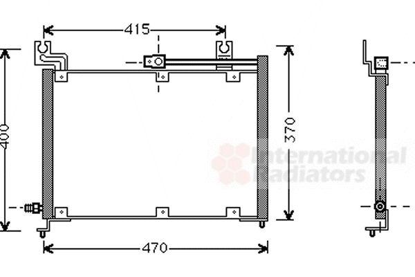 Condenseur, climatisation - VAN WEZEL - 52005037
