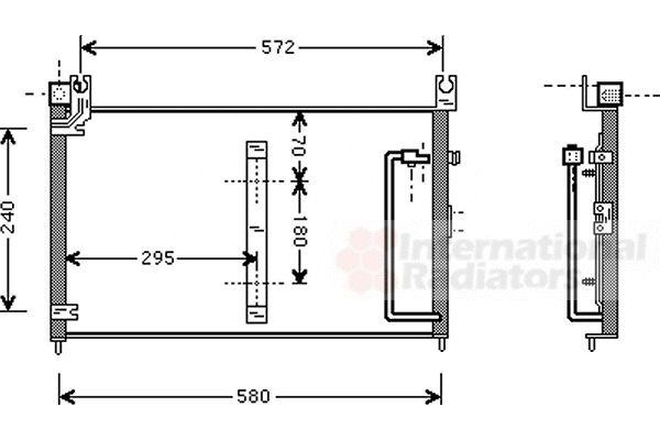 Condenseur, climatisation - VAN WEZEL - 52005038