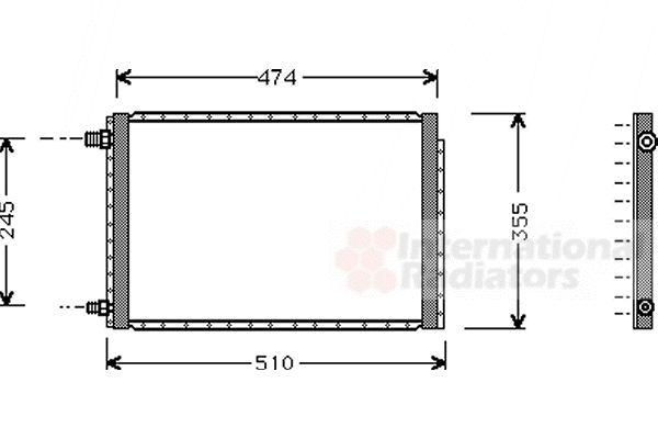 Condenseur, climatisation - VAN WEZEL - 52005043