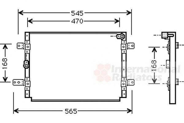 Condenseur, climatisation - VAN WEZEL - 52005056
