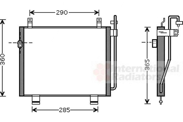 Condenseur, climatisation - VAN WEZEL - 52005060