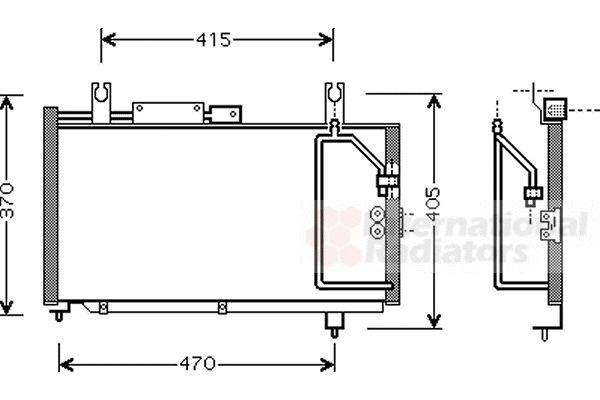 Condenseur, climatisation - VAN WEZEL - 52005067