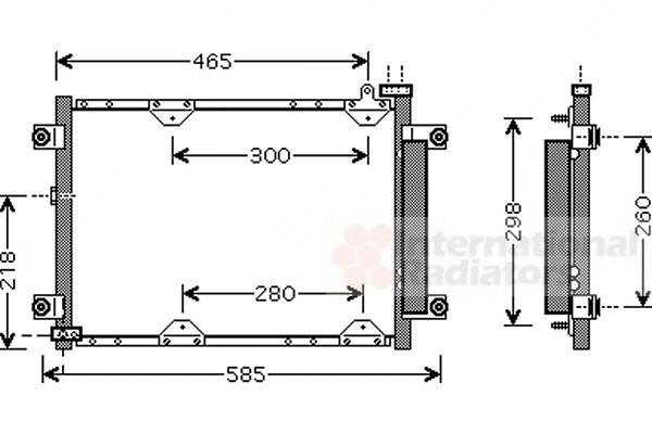 Condenseur, climatisation - VAN WEZEL - 52005075