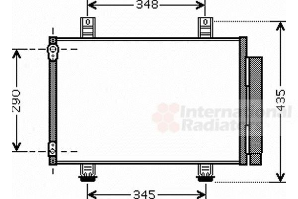 Condenseur, climatisation - VAN WEZEL - 52005087