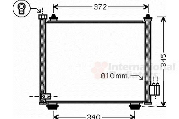 Condenseur, climatisation - VAN WEZEL - 52005089