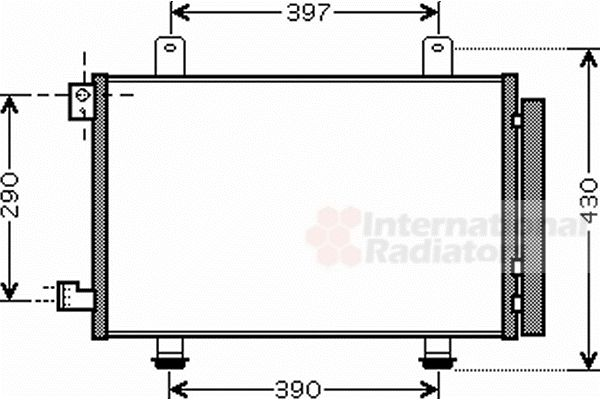 Condenseur, climatisation - VAN WEZEL - 52005090