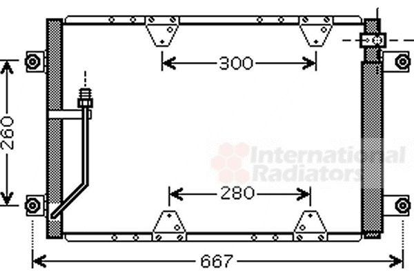 Condenseur, climatisation - VAN WEZEL - 52005107
